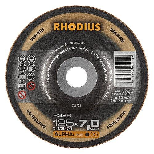 RHODIUS RS28 – Schruppscheibe mit hoher Zerspanungsleistung und guter Standzeit