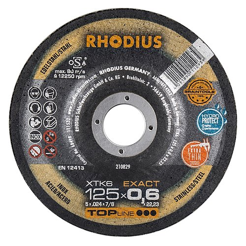 RHODIUS XTK6 EXACT − die dünnste Trennscheibe der Welt