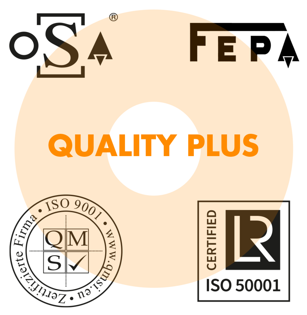 Logos ISO, oSa, FEPA