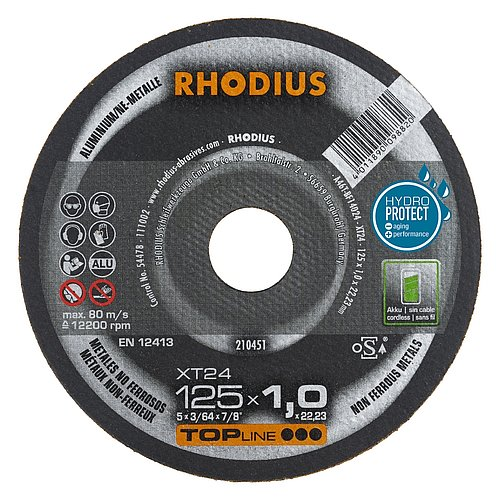 Aluminium trennen mit der RHODIUS XT24 − extra dünne Trennscheibe für Aluminium und NE-Metalle