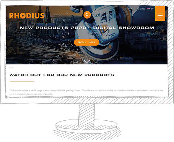 Image - RHODIUS Digital Showroom - New products 2020