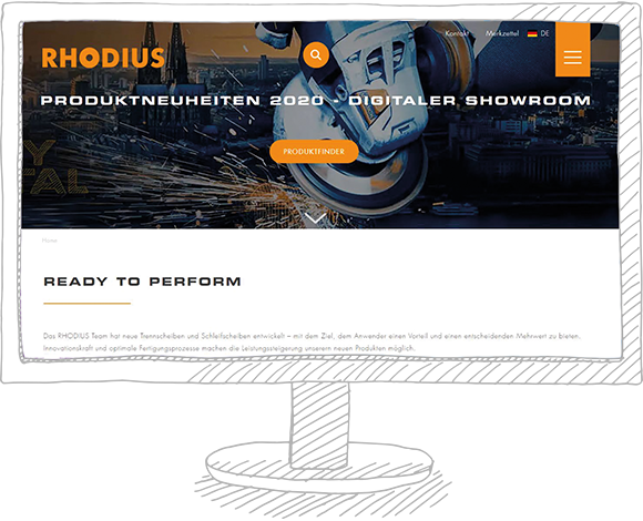 Visualisierung - RHODIUS Showroom Produkneuheiten