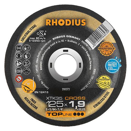 RHODIUS XTK35 CROSS – Metall trennen und Metall schleifen mit einer Scheibe