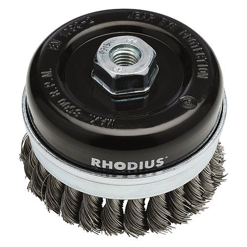 RHODIUS STBZ − Topfbürste mit abnehmbarem Stützring