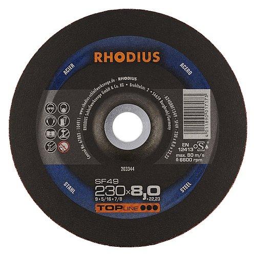 RHODIUS SF49 − Schleifscheibe für den Gleisoberbau mit hoher Zerspanungsleistung und kühlem Schliff