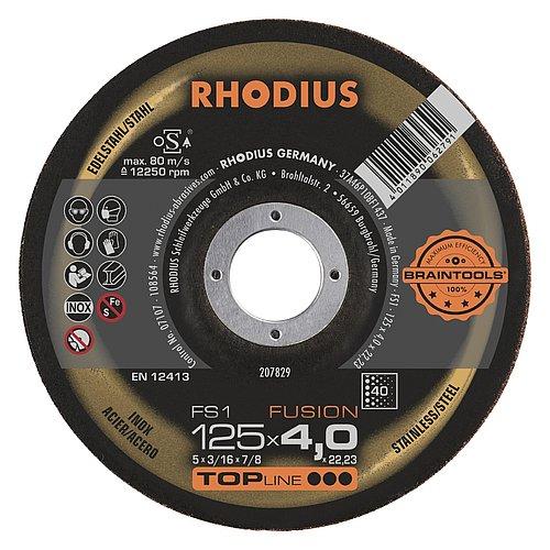 RHODIUS FS1 FUSION − Schruppscheibe mit hoher Standzeit für das Kehlnahtschleifen