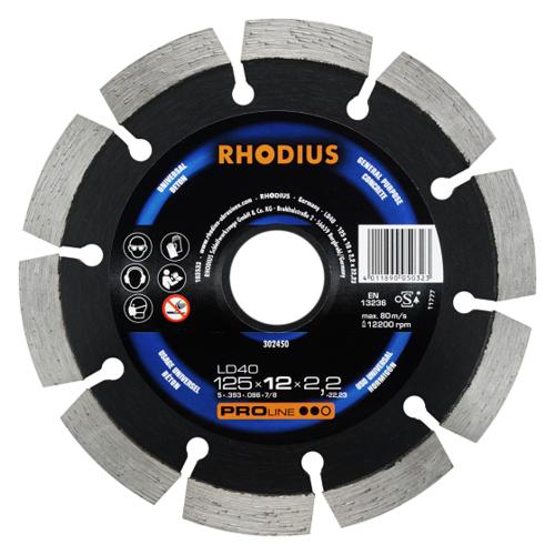 RHODIUS LD40 – Diamanttrennscheibe für Winkelschleifer, Benzintrenner und Tischsägen