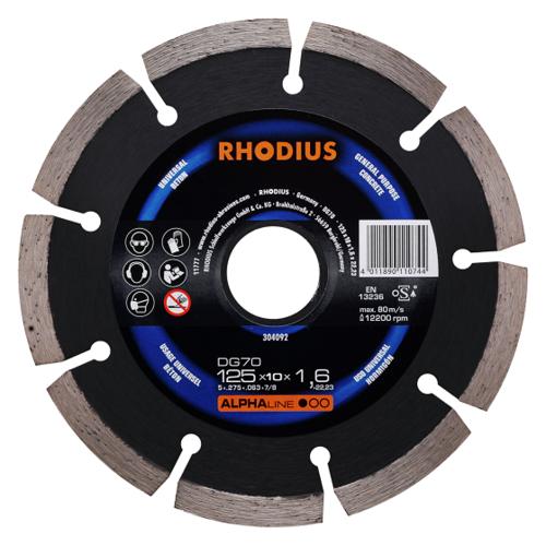 RHODIUS DG70 – Diamantrennscheibe speziell für Beton