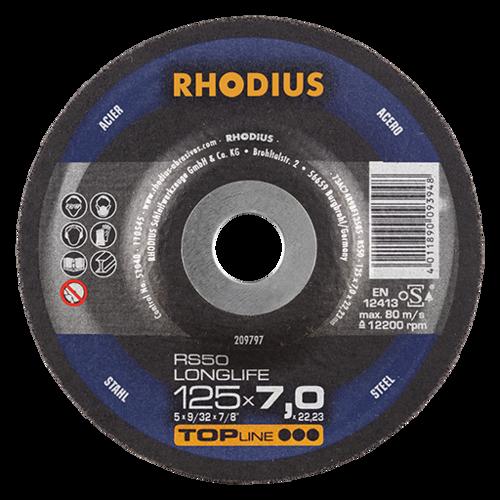 RHODIUS RS50 LONGLIFE – Leistungsstarke Schruppscheibe mit hoher Bindungshärte