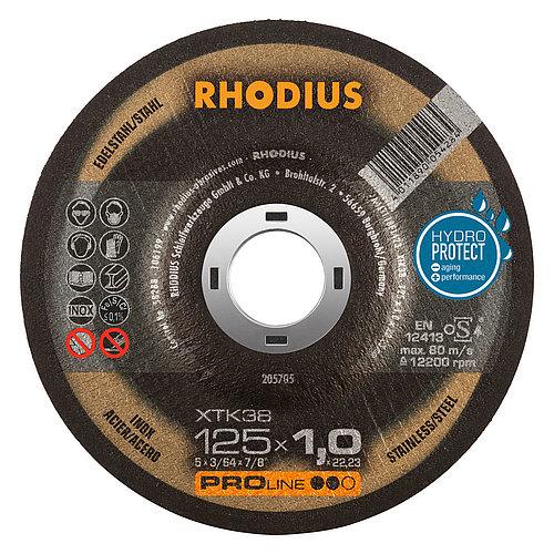 RHODIUS XTK38 − dünne Trennscheibe für den Stahlbau mit herausragendem Preis-Leistungs-Verhältnis