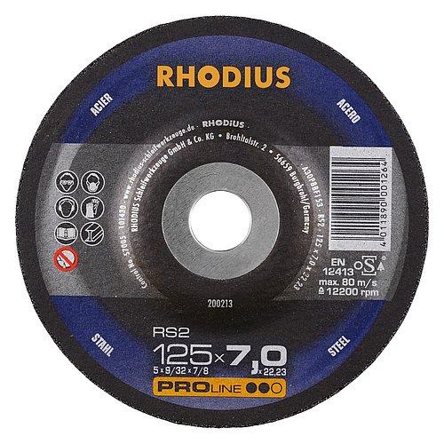 RHODIUS RS2 − vielseitige Schruppscheibe für den Stahlbau mit hoher Zerspanungsleistung