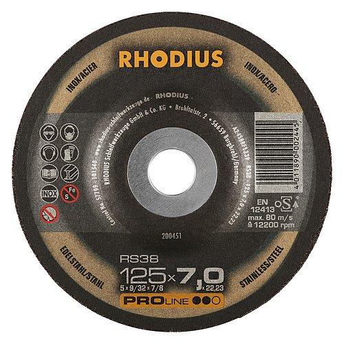 RHODIUS RS38 – leistungsstarke Schruppscheibe mit hoher Zerspanung