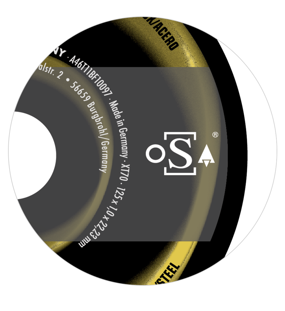 RHODIUS Grinding disc with oSa logo