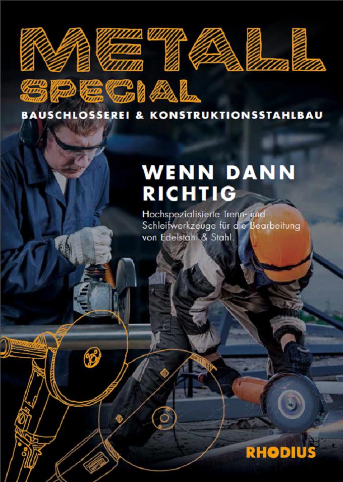 Deckblatt Broschüre Schleifwerkzeuge für den Konstruktionsstahlbau
