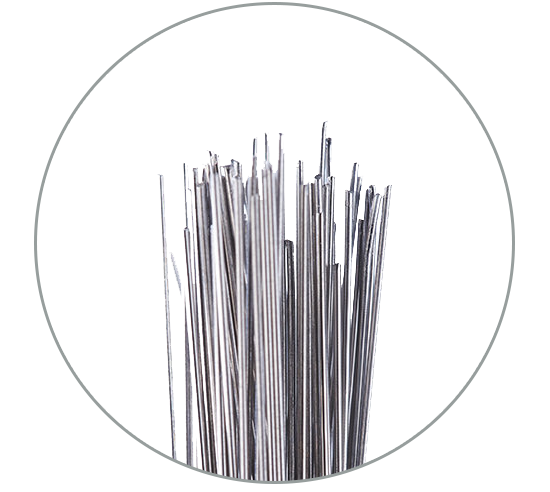 RHODIUS quality straight or knotted steel wire