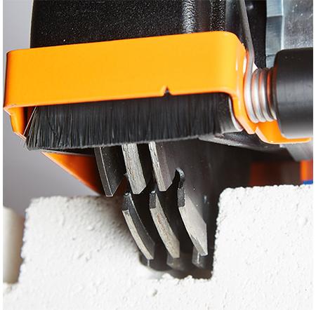 Mit der RHODIUS Mauerschlitzfräse nahezu 50 % schneller arbeiten