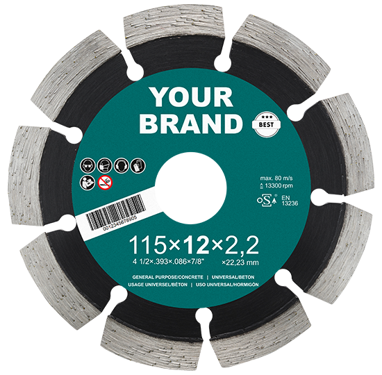 Diamond cutting disc for private labels, neutral