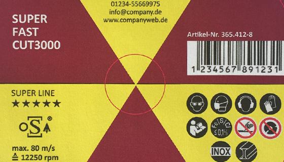 RHODIUS Trennscheiben und Schleifscheiben für Private Label - Farbmuster 1