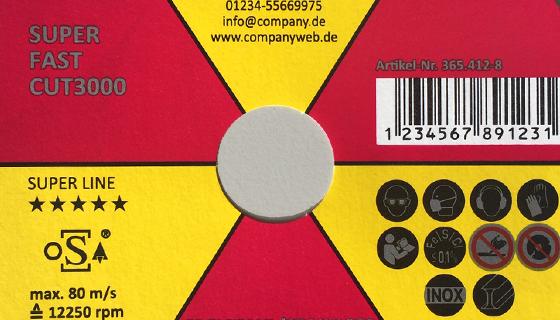 RHODIUS Trennscheiben und Schleifscheiben für Private Label - Farbmuster 2