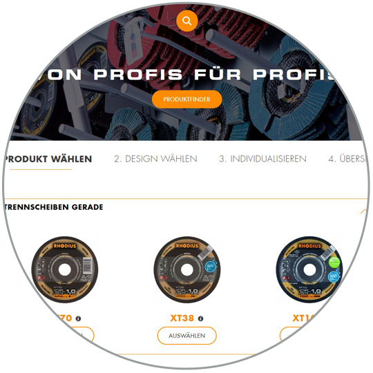 RHODIUS Abrasives for Private Label - Screen cutting discs
