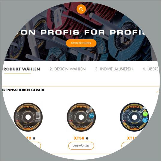 RHODIUS Schleifwerkzeuge für Private Label - Screen Trennscheiben