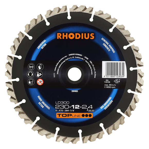 RHODIUS LD300 - Diamond cutting disc for concrete
