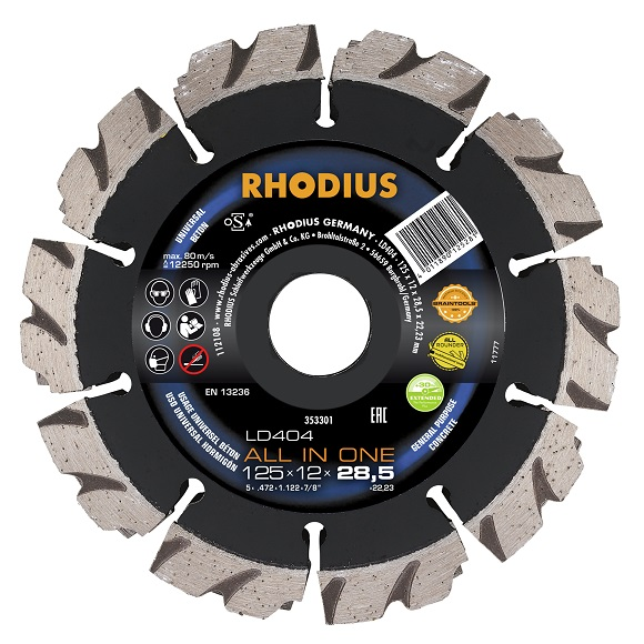 RHODIUS LD404 ALL IN ONE - diamond cutting disc for wall slot chasing