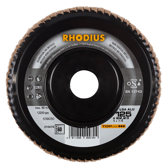 RHODIUS LGA ALU - flap disc for non-ferrous metals