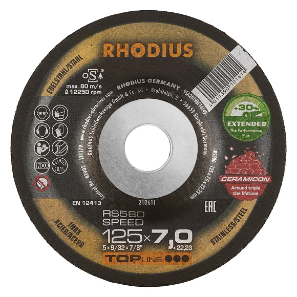 RHODIUS RS580 EXTENDED - Grinding disc