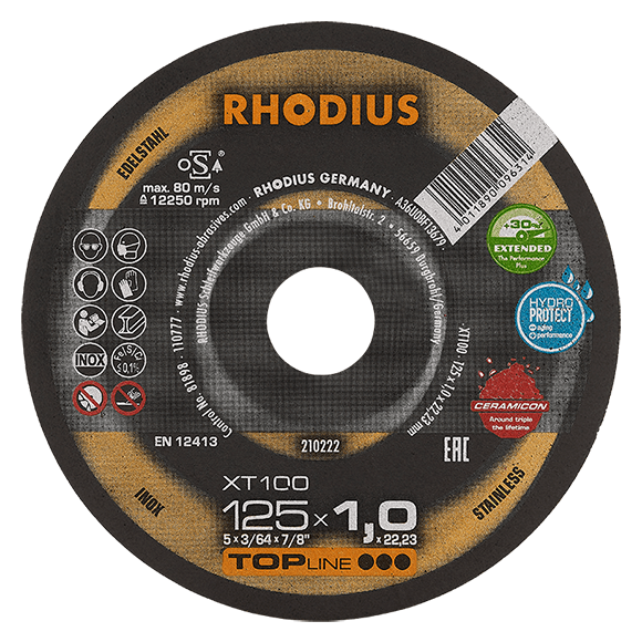 RHODIUS XT100 EXTENDED - Stainless steel cutting disc