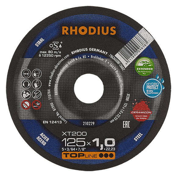 RHODIUS XT200 EXTENDED - Steel cutting disc